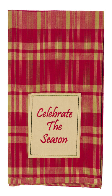 "Holiday Pine ""Celebrate The Season"" Dishtowel"