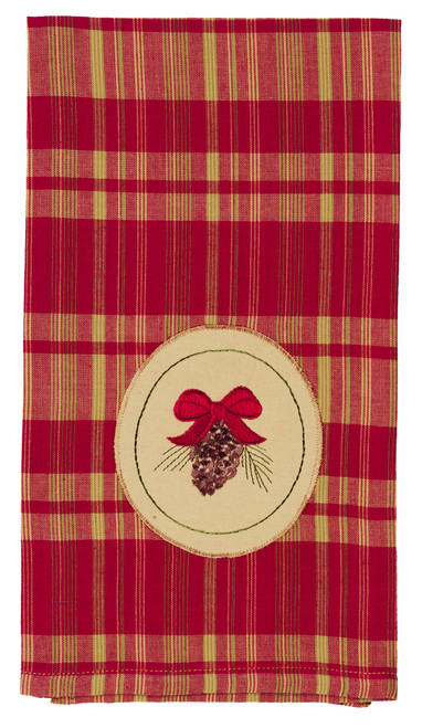 Holiday Pine Pinecone Dishtowel