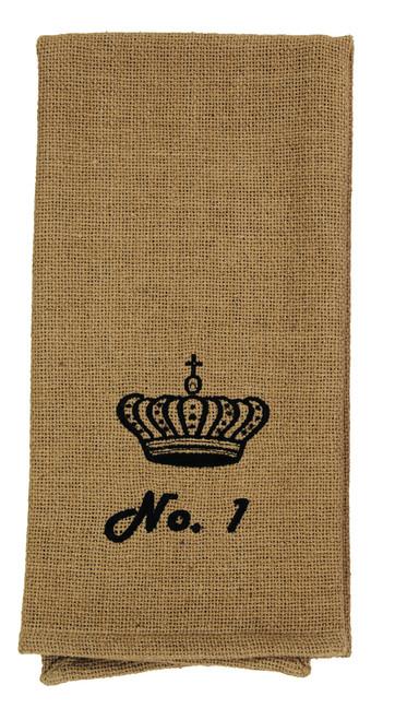 Burlap Check No. 1 Crown Dishtowel