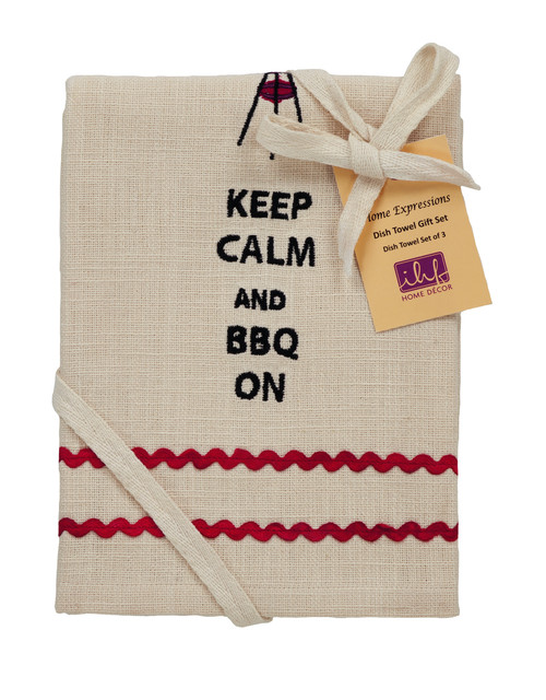 Picnic Red Dishtowel Gift Set - Set of 3