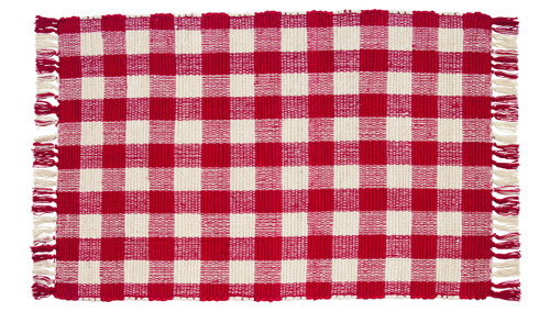 Picnic Red Rectangle Rug