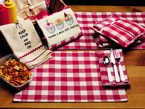 Picnic Red Long Table Runner