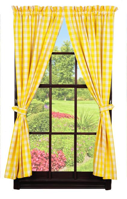 Picnic Yellow Short Panel Pair