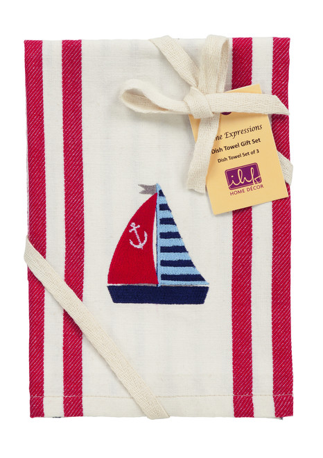 Anchor Dishtowel Gift Set - Set of 3