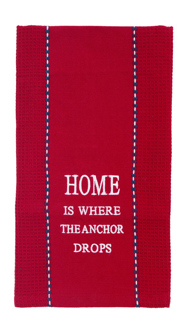 "Wheel ""Home Is Where"" Dishtowel"