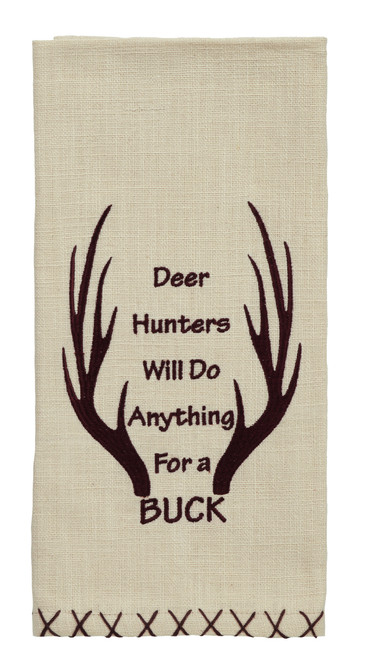 "Wilderness ""Anything For A Buck"" Dishtowel"