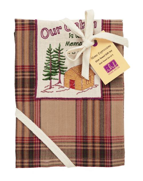 Pinecone Dishtowel Gift Set - Set of 3