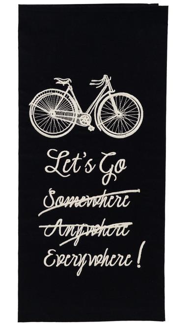 French Postcard Let's Go Everywhere! Dishtowel