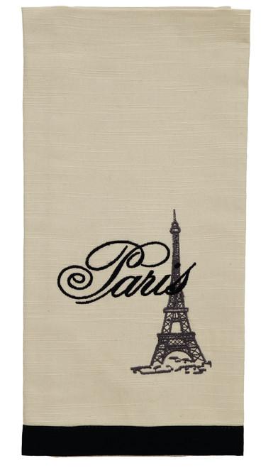 French Postcard Eiffel Tower Dishtowel