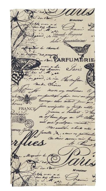 French Postcard Dishtowel