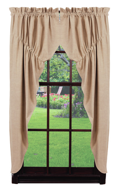 Au Natural Solid Prairie Curtain Set