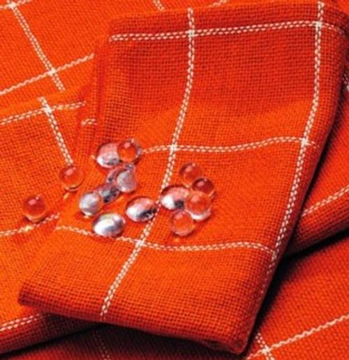 Burlap Check Tangerine Napkin