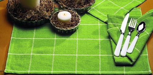 Burlap Check Lime Placemat