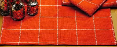 Burlap Check Tangerine Placemat