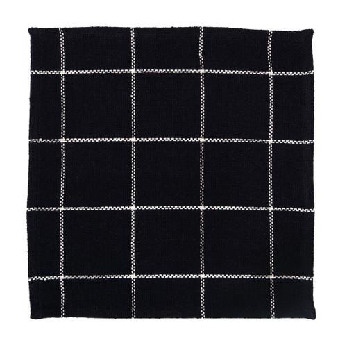 Burlap Check Black Tablemat
