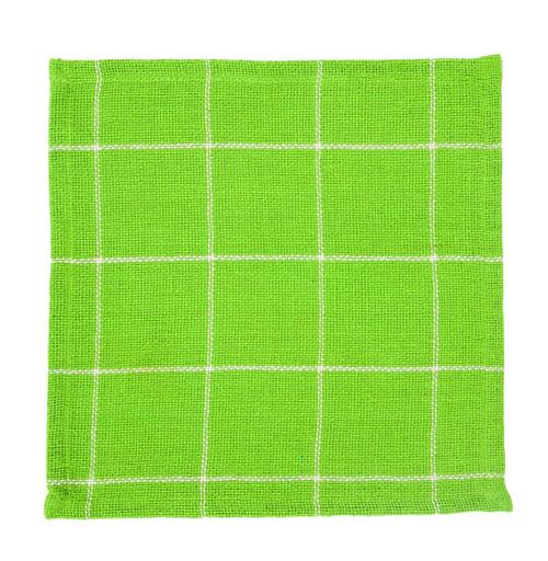 Burlap Check Lime Tablemat