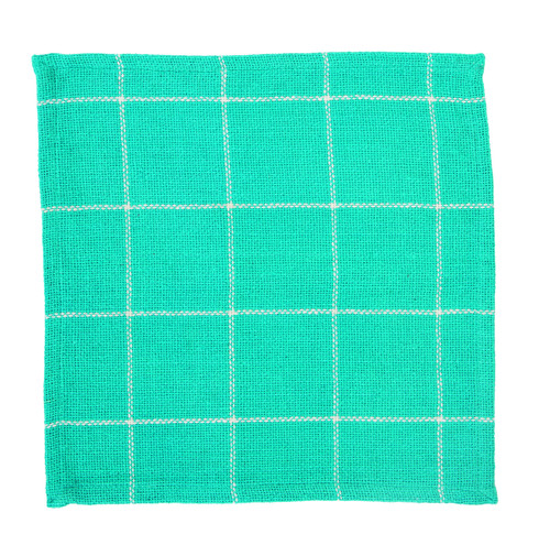 Burlap Check Turquoise Tablemat