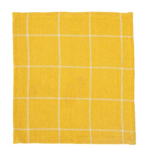 Burlap Check Yellow Tablemat