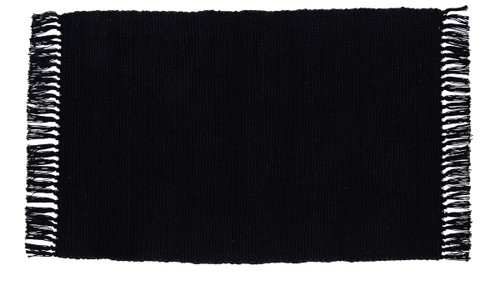 Burlap Black Rectangle Rug