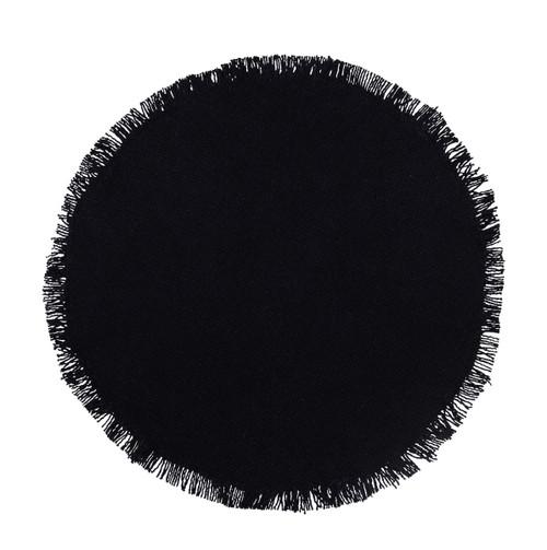 Burlap Black Tablemat