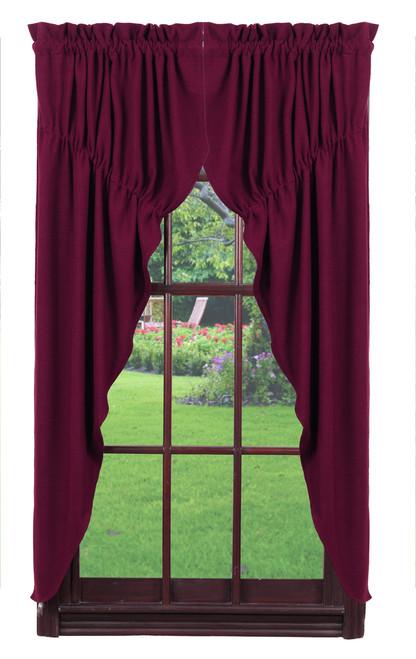 Burlap Wine Prairie Curtain Set