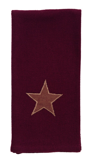 Burlap Star Wine Dishtowel