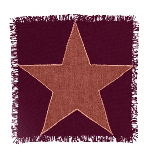 Burlap Star Wine Tablemat