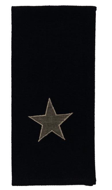 Burlap Star Black Dishtowel