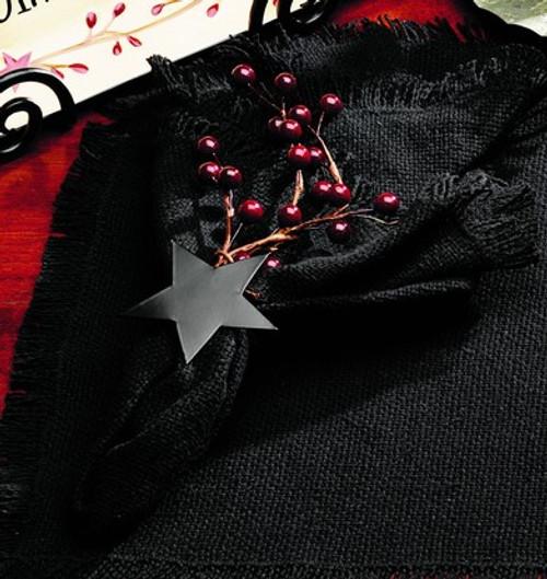 Burlap Star Black Napkin