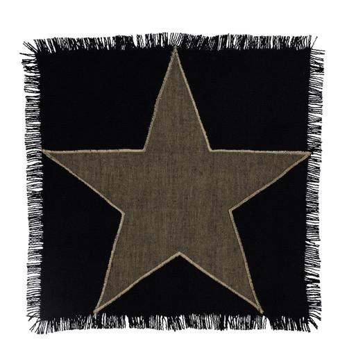 Burlap Star Black Tablemat