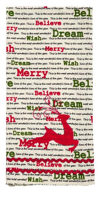 Christmas Wishes Reindeer Dishtowel