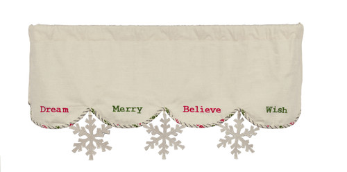 Christmas Wishes Mantle Scarf