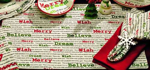 Christmas Wishes Placemat