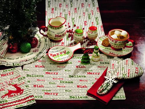 Christmas Wishes Short Table Runner