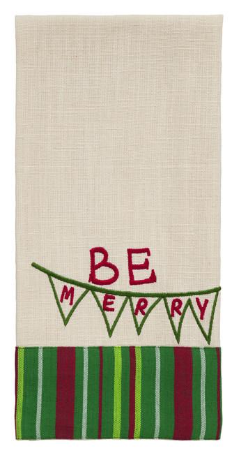 Dasher Be Merry Dishtowel
