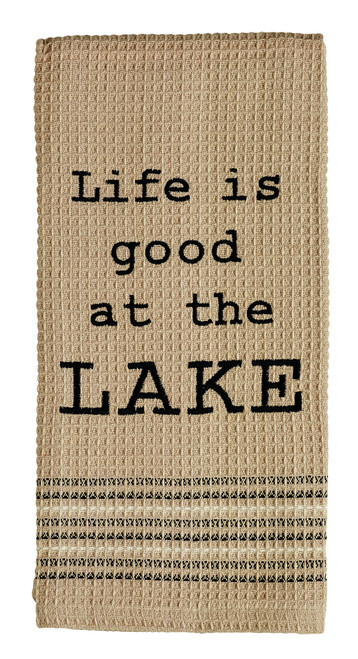 On The Lake Dishtowel