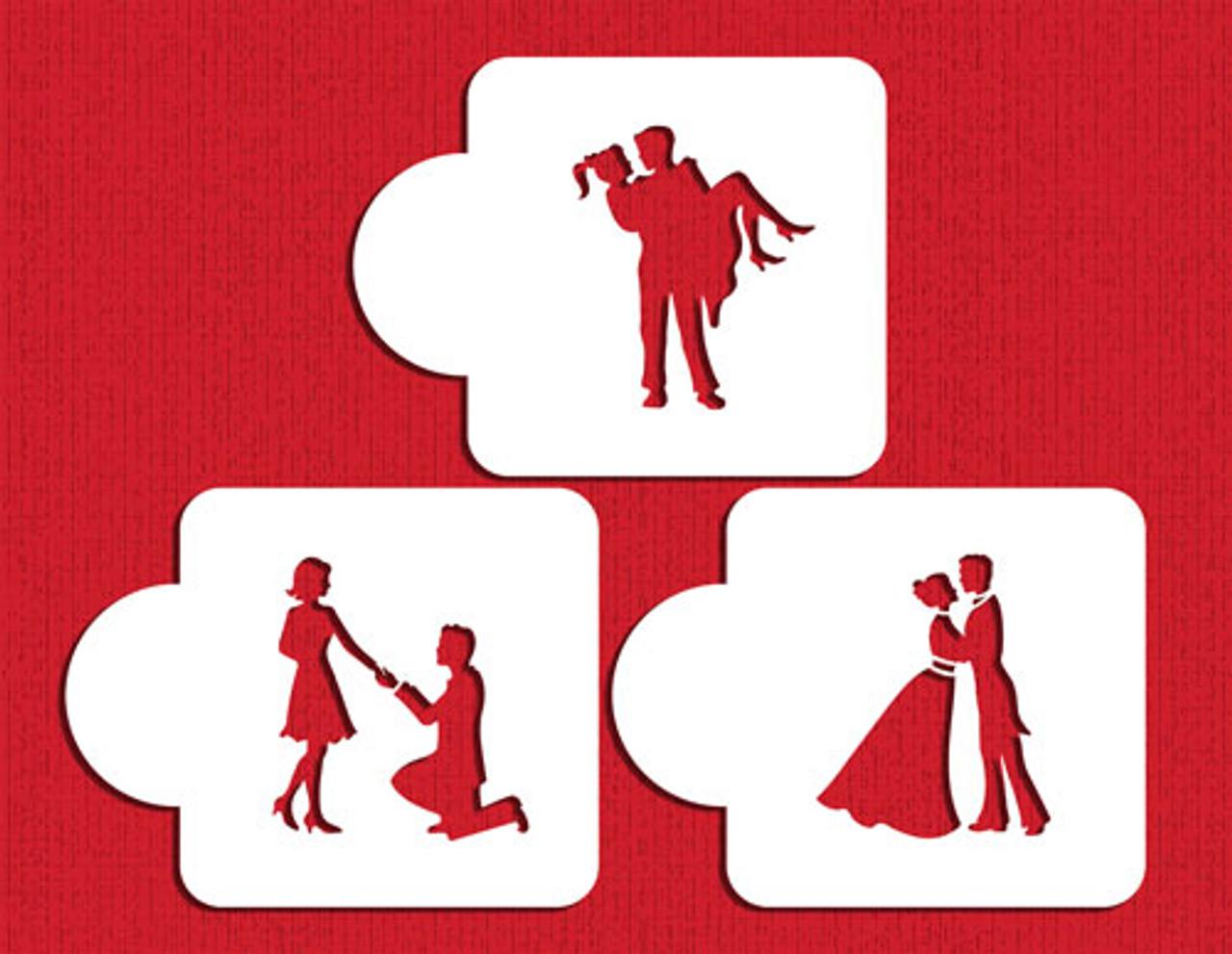 Designer Stencils Stages of Love Silhouette Set C934