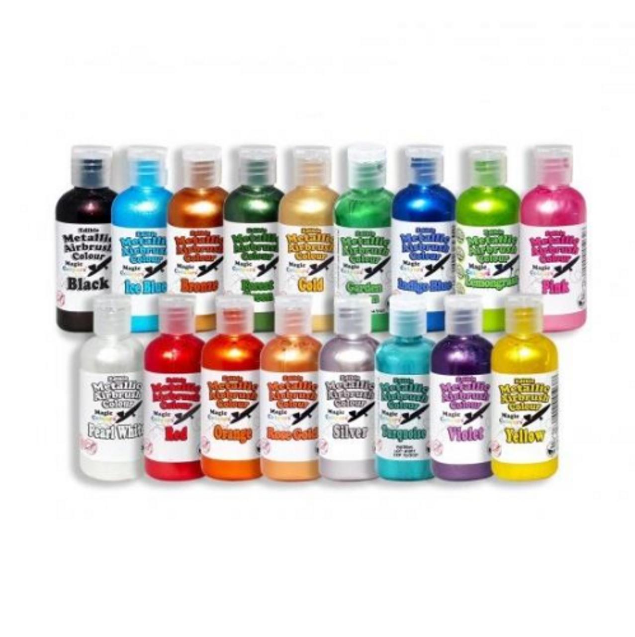 Edible Airbrush Metallic Colours - Magic Colour