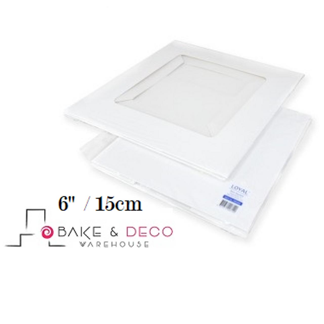 Plastic, 2 x Square Cake Box