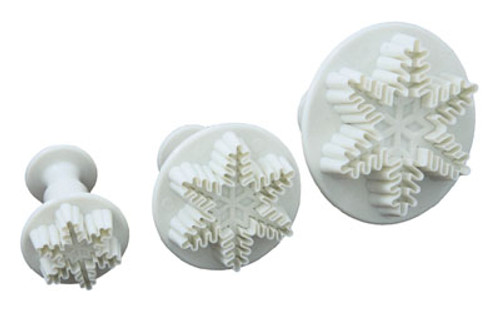 Plunger Cutter Set 3pc - Snowflake