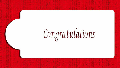 Designer Stencils Congratulations C211