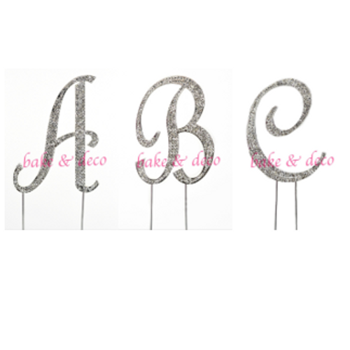 Diamante Cake Toppers - Letters 11cm