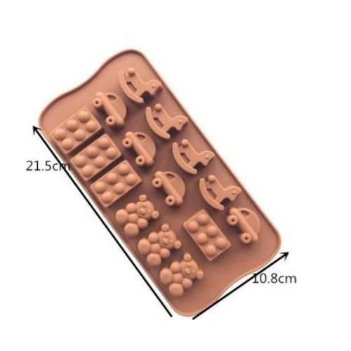 Chocolate Mold - Bear Block & Rocking Horse