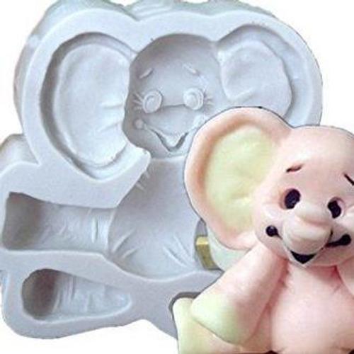 Baby Silicone Mold - SITTING ELEPHANT