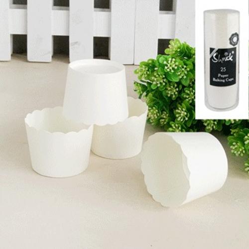 Shmick Baking Cups 25pk - WHITE