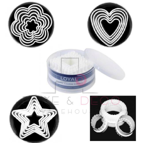 Plastic Fondant / Cookie Cutter Sets (6)  - LOYAL