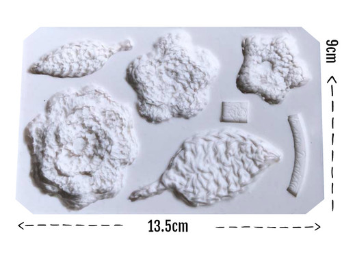Crochet Flowers Silicone Mould