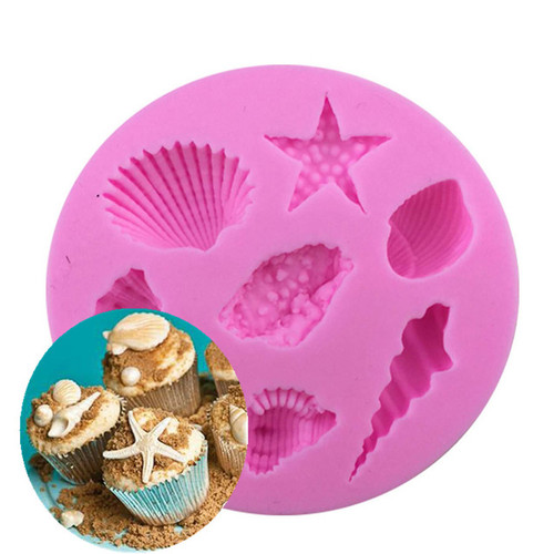Silicone Mold 7pc - Assorted Shells