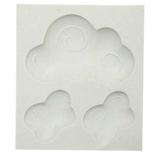 Cloud Silicone Mold, 3 Cavity
