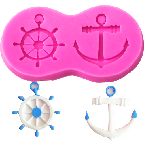 Nautical Silicone Mould 2pc